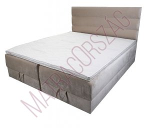 MO/GoldLine/Standard Box / ágyneműtartós Boxspring ágy fejvéggel / rugós matraccal - Hotel ágy - MatracOrszág