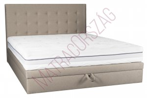 MO/GoldLine /Medium Only Box/ ágyneműtartós Boxspring ágy fejvéggel + matraccal (K)
