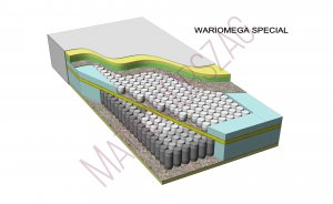 WarioMega Special Luxury egyoldalas hideghab táskarugós zónás luxus rugós hotel matrac