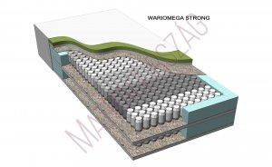 WarioMega Strong Luxury egyoldalas hideghab táskarugós zónás kemény luxus rugós hotel matrac